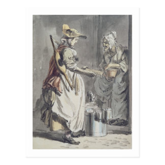 London Cries: A Milkmaid, c.1759 (pen & ink brush, Postcard