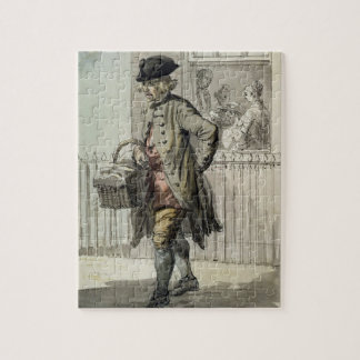 London Cries: A Muffin Man, c.1759 (w/c on paper) Jigsaw Puzzle