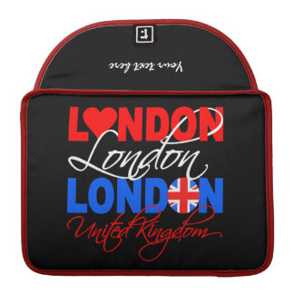 London custom MacBook sleeve