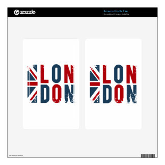 London Decals For Kindle Fire