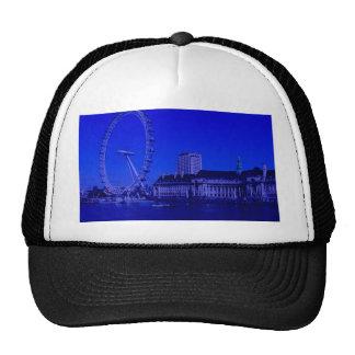 London, deep blue trucker hat