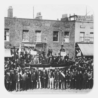 London Dock Strike, 1889 Square Sticker