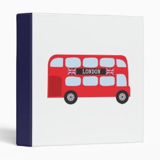 London double-decker bus 3 ring binder
