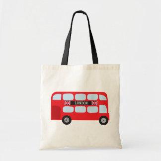 London double-decker bus bags