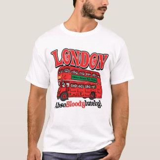 London Double-Decker Bus by Mudge Studios T-Shirt