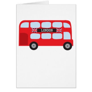 London double-decker bus card