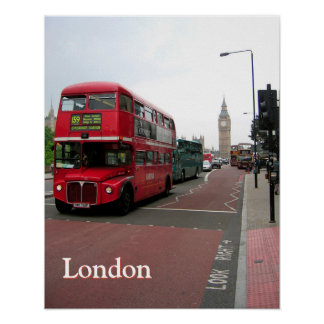 London Double-decker Bus Customized Poster