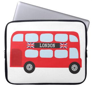London double-decker bus laptop computer sleeves