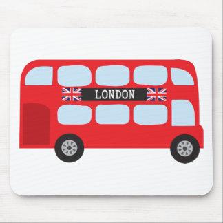 London double-decker bus mouse pad