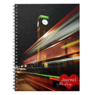 London, Double Decker Bus No.2 (Notebook) Notebook