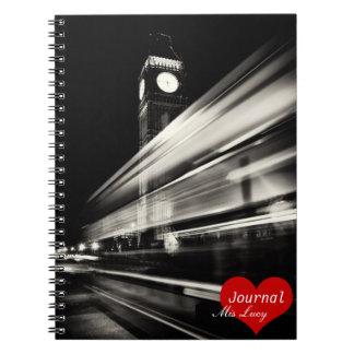 London, Double Decker Bus No.3 (Notebook) Notebook