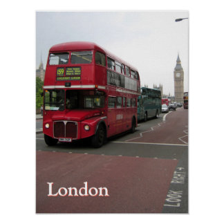 London Double-decker Bus Personalized Poster