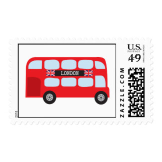 London double-decker bus postage