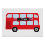 London double-decker bus poster