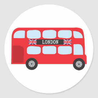 London double-decker bus stickers