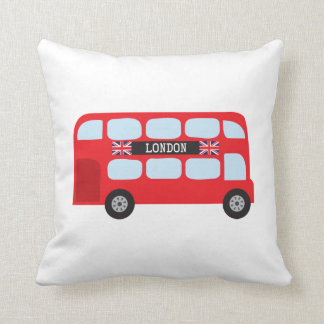 London double-decker bus throw pillow