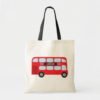 London double-decker bus tote bag