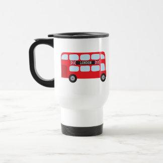 London double-decker bus travel mug
