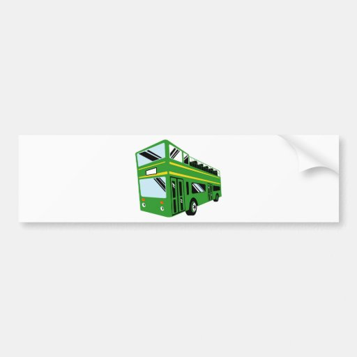 London double decker tourist bus coach bumper sticker