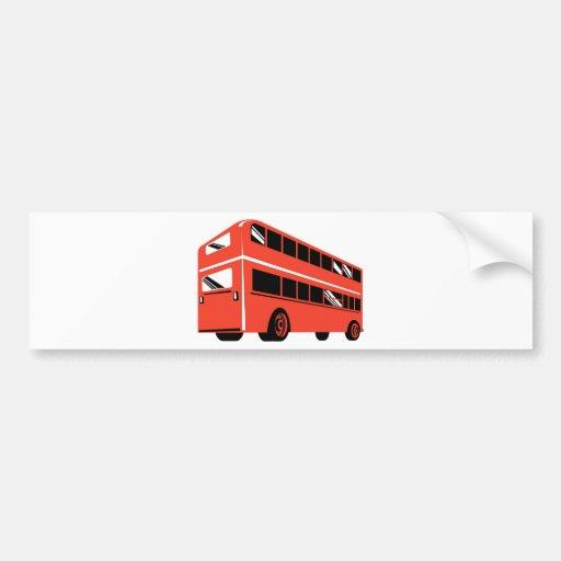 London double decker tourist bus coach bumper stickers