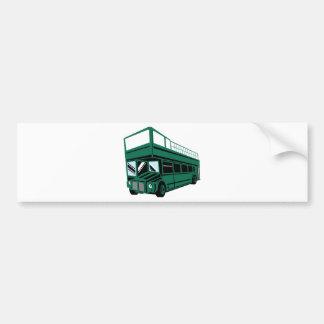London double decker tourist bus coach car bumper sticker