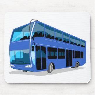 London double decker tourist bus coach mouse pad