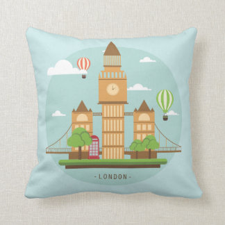 London Dreaming Throw Pillow