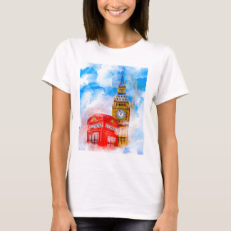 London Dreams - Big Ben And Classic Telephone Box T-Shirt