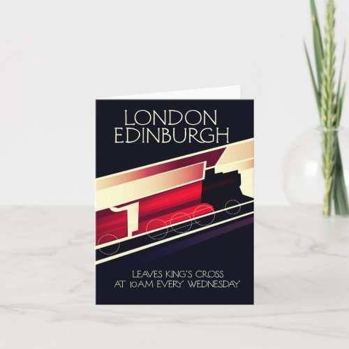 London Edinburgh Locomotive vintage style poster