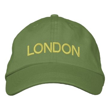 LONDON EMBROIDERED BASEBALL CAP