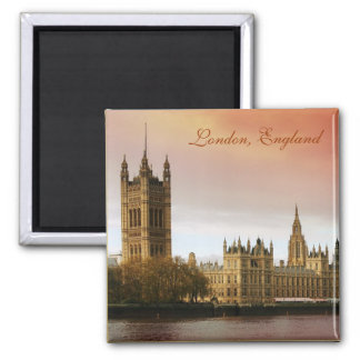 London, England 2 Inch Square Magnet