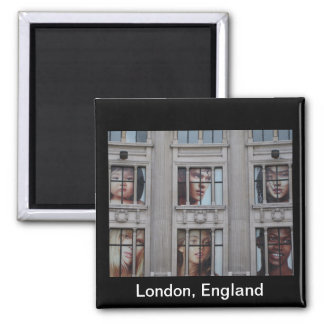London England 2 Inch Square Magnet