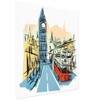 London England artistic city scape wall canvas Canvas Print