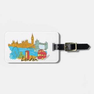 London England Bag Tag