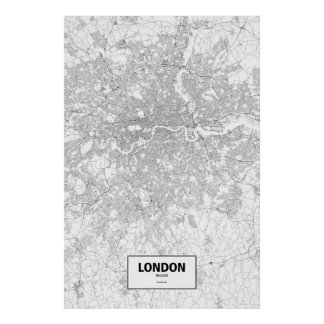 London, England (black on white) Posters