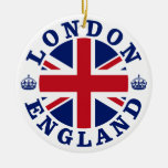 London England British Flag Roundel Ceramic Ornament