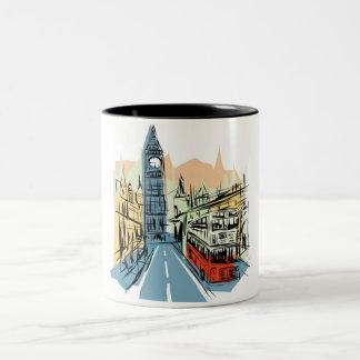 London England city scape coffee mug