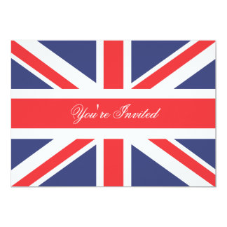 London England Corgi with Crown Party Invitation