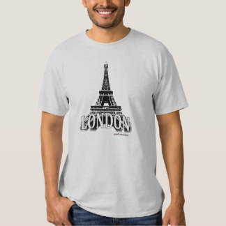 London England featuring the Eiffel Tower T Shirt