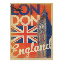 London, England - Flag Postcard
