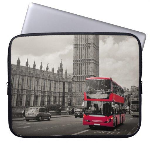 London England Laptop Computer Sleeve