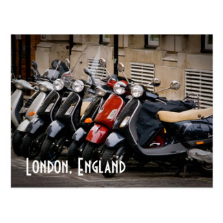 London, England Motorbike Postcard