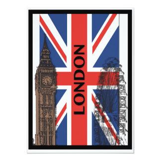 "London, England party invitations 5.5"" X 7.5"" Invitation Card"
