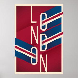London, England | Retro Illustrated Typography Poster