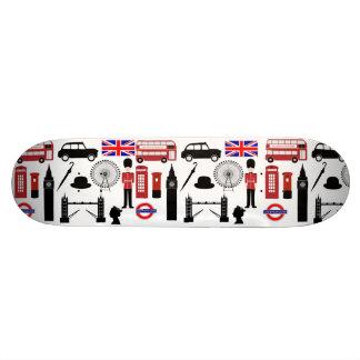 London England Custom Skate Board