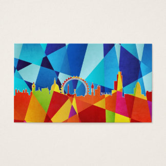 London England Skyline Cityscape Business Card
