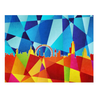 London England Skyline Cityscape Post Card