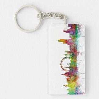 London England Skyline Double-Sided Rectangular Acrylic Keychain