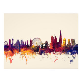London England Skyline Photo Print