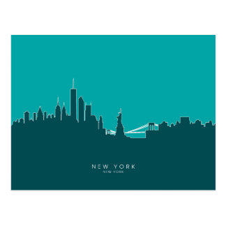 London England Skyline Post Card